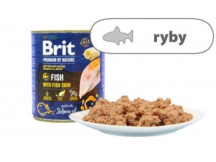 Brit Premium by Nature Fish větší konzerva štítek