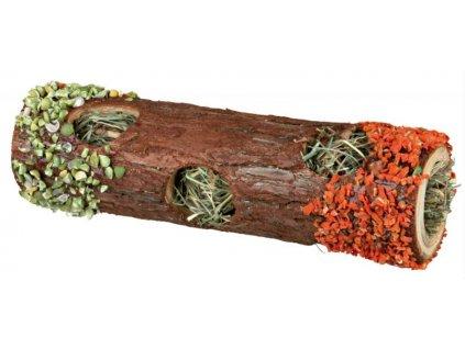 Dřevěný tunel se senem a květy ibišku, mrkví a hráškem 6,5 x 20 cm, 25 g