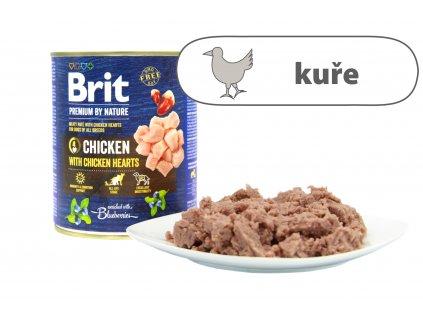 Brit Premium by Nature Chicken větší konzerva štítek