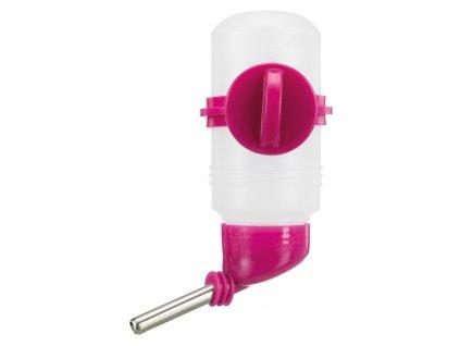 Napaječka se šroubovací úchytkou pro křečky, pískomily 125 ml, růžová