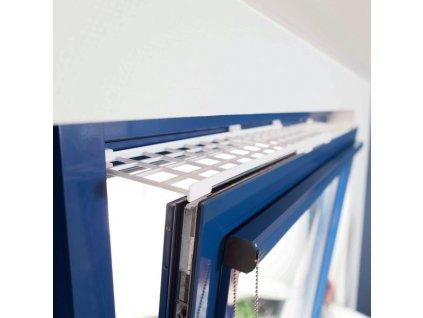 Ochranná mřížka do okna horní 75 125 cm 16 cm bílá