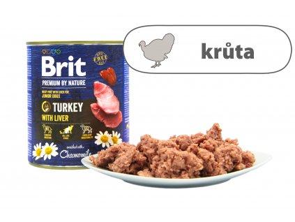 Brit Premium by Nature Turkey větší konzerva štítek