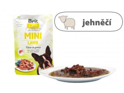 Brit Care Mini Lamb Fillets in gravy štítek