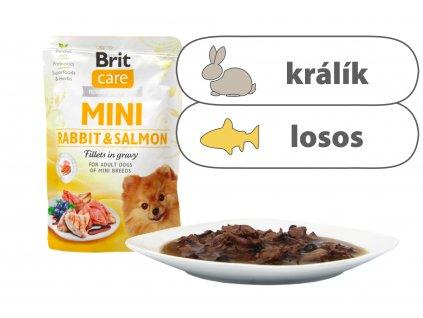 Brit Care Mini Rabbit and Salmon štítek
