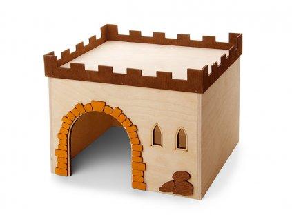 33017 jk animals dreveny domek hrad c 4 kralik 29 24 5 22 5 cm 1