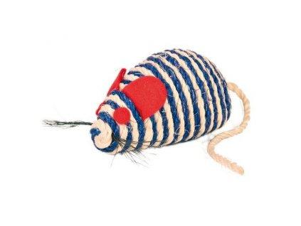 Myš se štěrchacími kuličkami uvnitř, sisal 10 cm