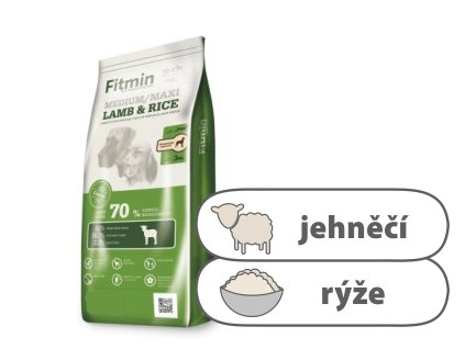 Fitmin Medium Maxi Lamb & Rice kompletní krmivo pro psy 14 kg