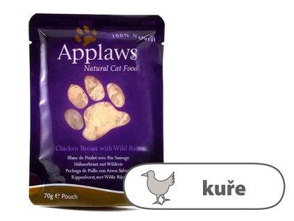 Applaws kapsička Cat – Kuřecí prsa a divoká rýže 70 g