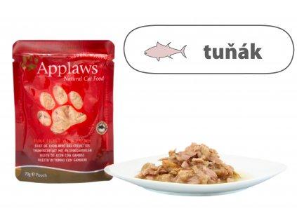 Applaws kapsička Cat – Tuňák a tygří krevety 70 g