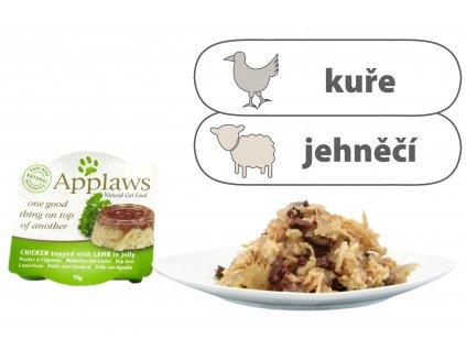 Applaws miska Cat Duo Aspik – Kuřecí prsa a jehněčí v želé 70 g