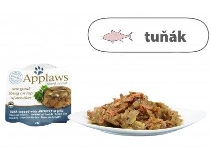 Applaws miska Cat Duo Aspik – Tuňák s ančovičkami 70 g