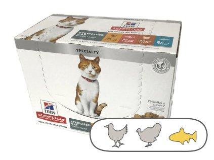 Hill's Fel. kapsa Adult Ster. Chicken & Fish & Trout & Turkey 12 x 85 g