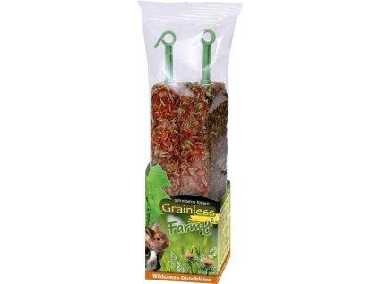 JR Farm Bezobilná tyčinka Semena divokých rostlin Květ bodláku 140 g