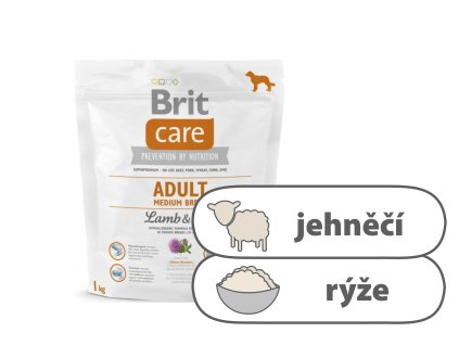 Brit Care Adult Medium Breed Lamb and Rice 1 kg