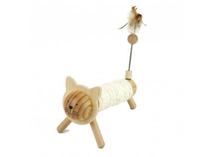 Earthy Pawz škrabadlo dřevěné kočka 25cm