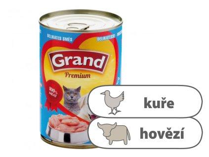 Grand konzerva Delikates Kuřecí s hovězím 405 g