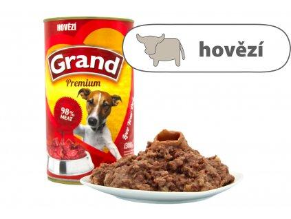 Grand konzerva pro psy Hovězí 1,3 kg