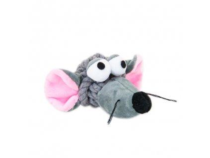 Akinu myš uzel bavlna plyš pro psy 15cm
