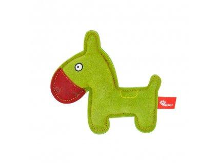 Akinu hračka oslík PREMIUM kůže zelený 17,5cm