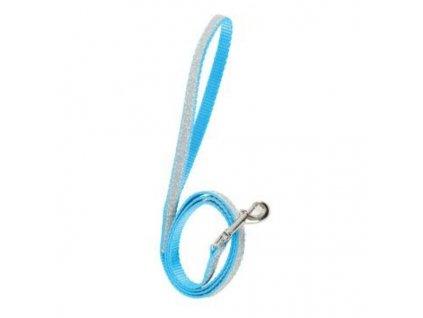 Vodítko kočka SHINY nylon modré 1m Zolux