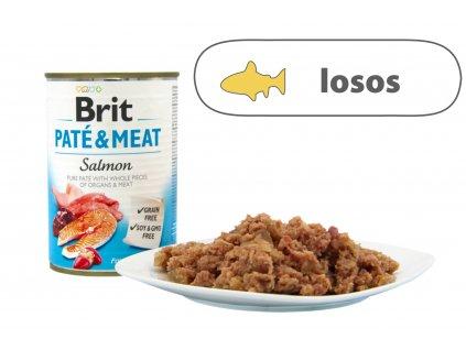 Brit Pate and Meat Salmon menší konzerva štítek
