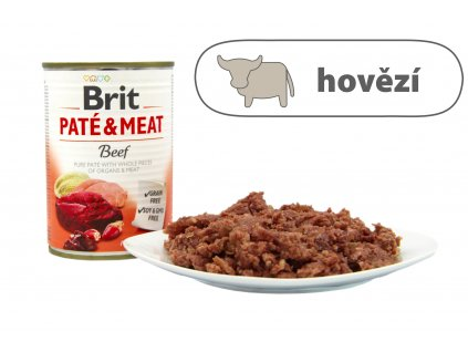 Brit Pate and Meat Beef menší konzerva štítek
