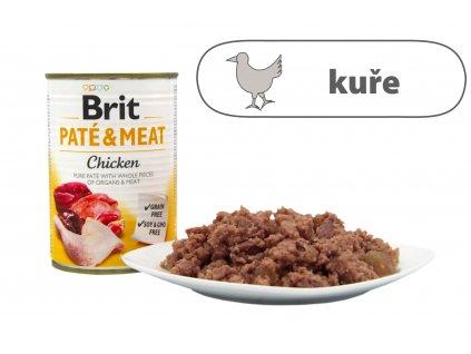 Brit Pate and Meat Chicken menší konzerva štítek