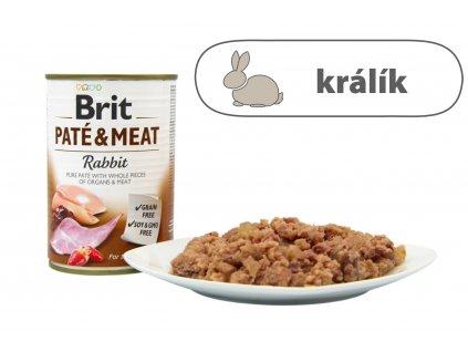 Brit Pate and Meat Rabbit menší konzerva štítek