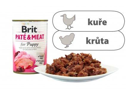 Brit Pate and Meat for Puppy menší konzerva štítek