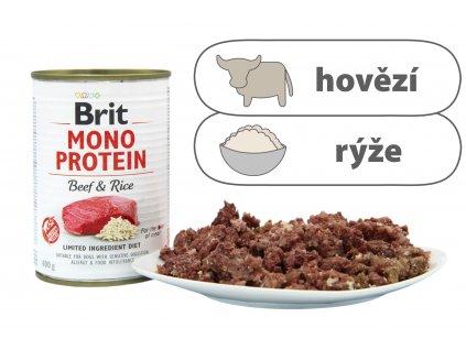 Brit Monoprotein Beef and Rice štítek