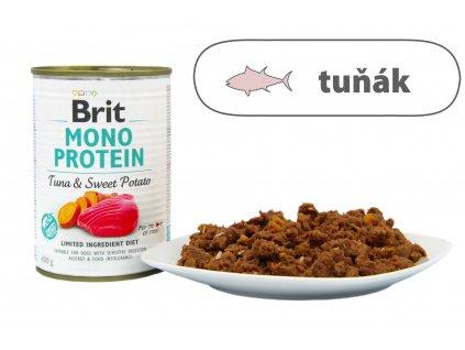 Brit Mono Protein Tuna and Sweet Potato štítek