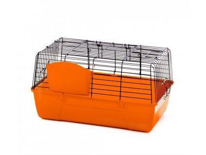 Klec pro králíky – Black, 60 cm - oranžová