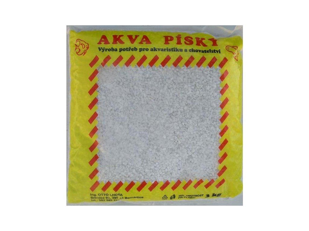 Písek akvarijní Akva č.11 - bílý 3 kg  2 - 4 mm