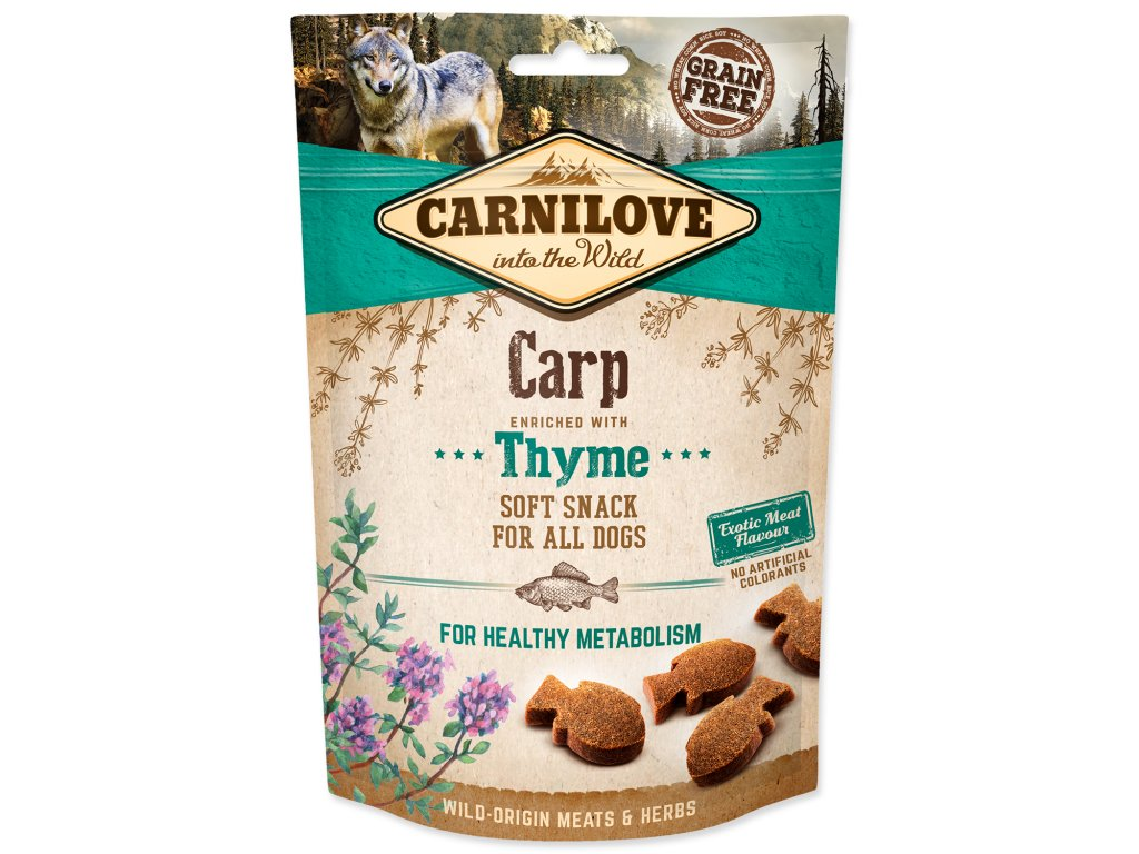 CARNILOVE Dog Semi Moist Snack Carp enriched with Thyme