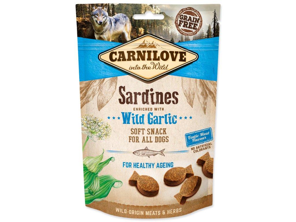 CARNILOVE Dog Semi Moist Snack Sardines enriched with Wild garlic