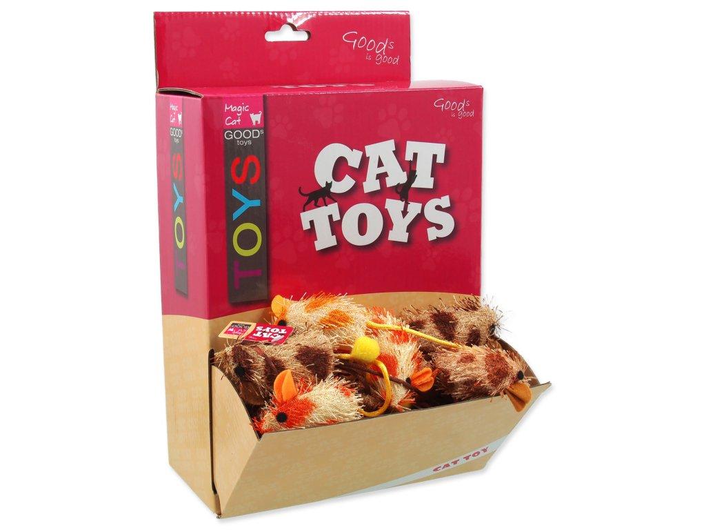 Hračky MAGIC CAT myška plyš / bavlna s catnipem 6 cm