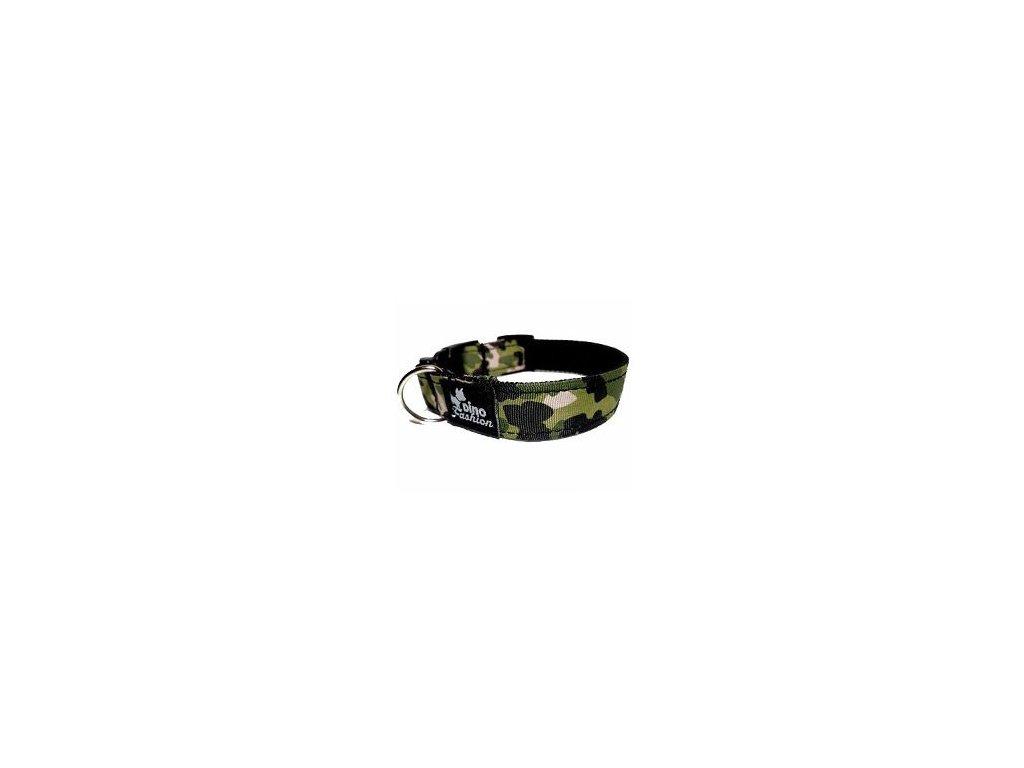 Obojek DINOFASHION Maskáčový zelený 35/2,5cm