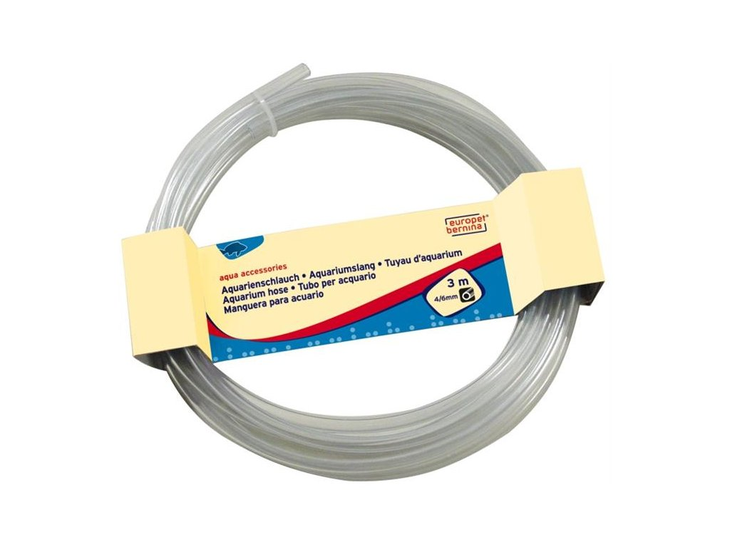 Vzduchovací hadička průhledná 4/6mm, 3m Duvo+