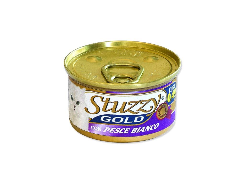 Konzerva STUZZY Cat Gold bílá ryba
