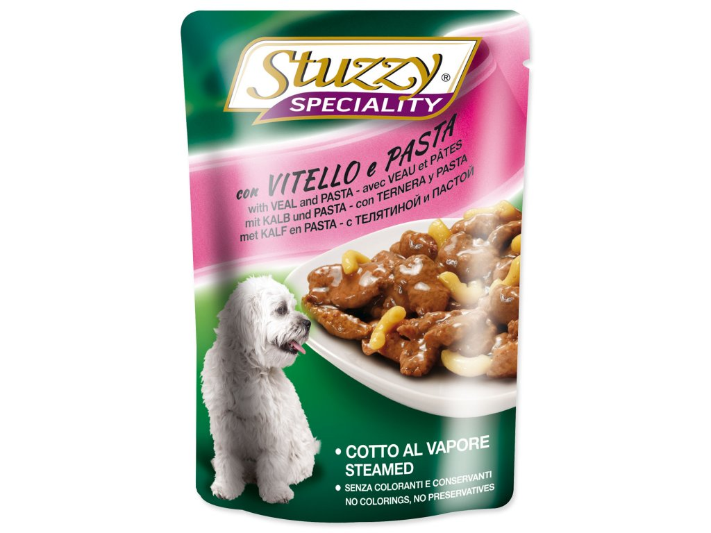 Kapsička STUZZY Dog Speciality telecí + těstoviny