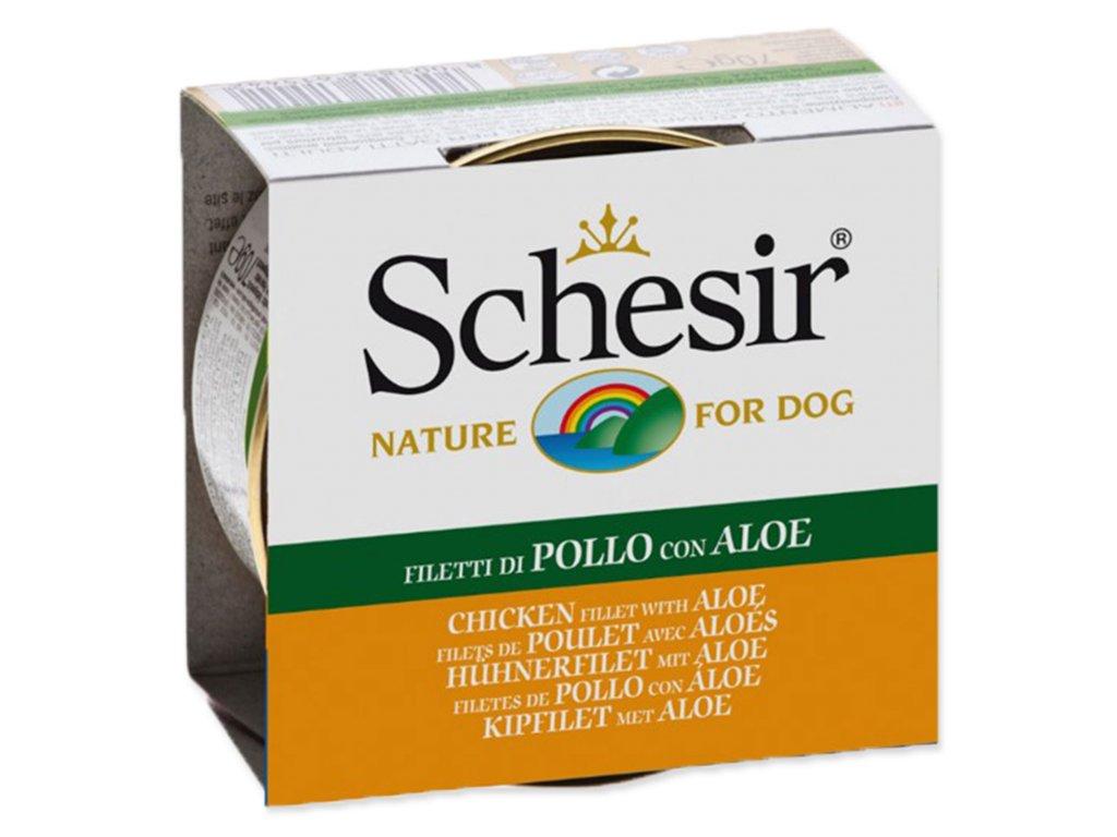 Konzerva SCHESIR Dog kuřecí + aloe v želé