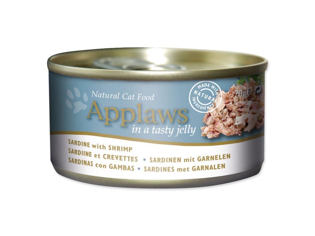 Konzerva APPLAWS Cat Jelly Sardine with Shrimp