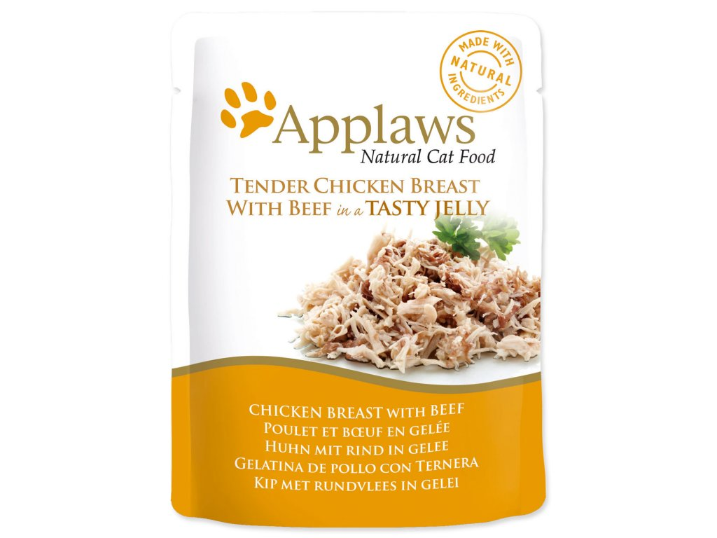 Kapsička APPLAWS Cat Pouch Chicken with Beef in Jelly