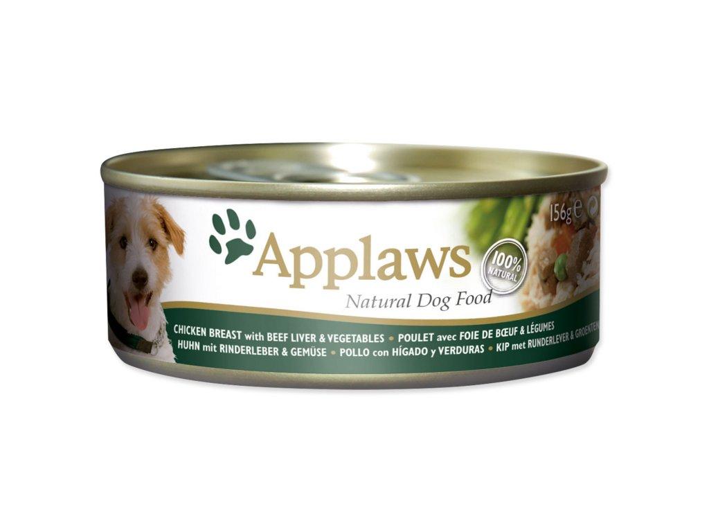 Konzerva APPLAWS Dog Chicken, Beef, Liver & Vegetables