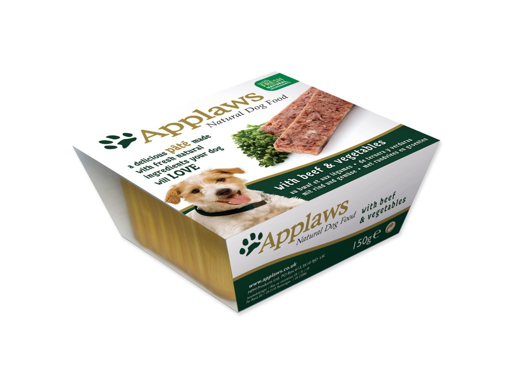 Paštika APPLAWS Dog Pate with Beef & Vegetables