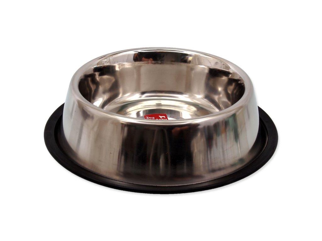 Miska DOG FANTASY nerezová s gumou 23 cm