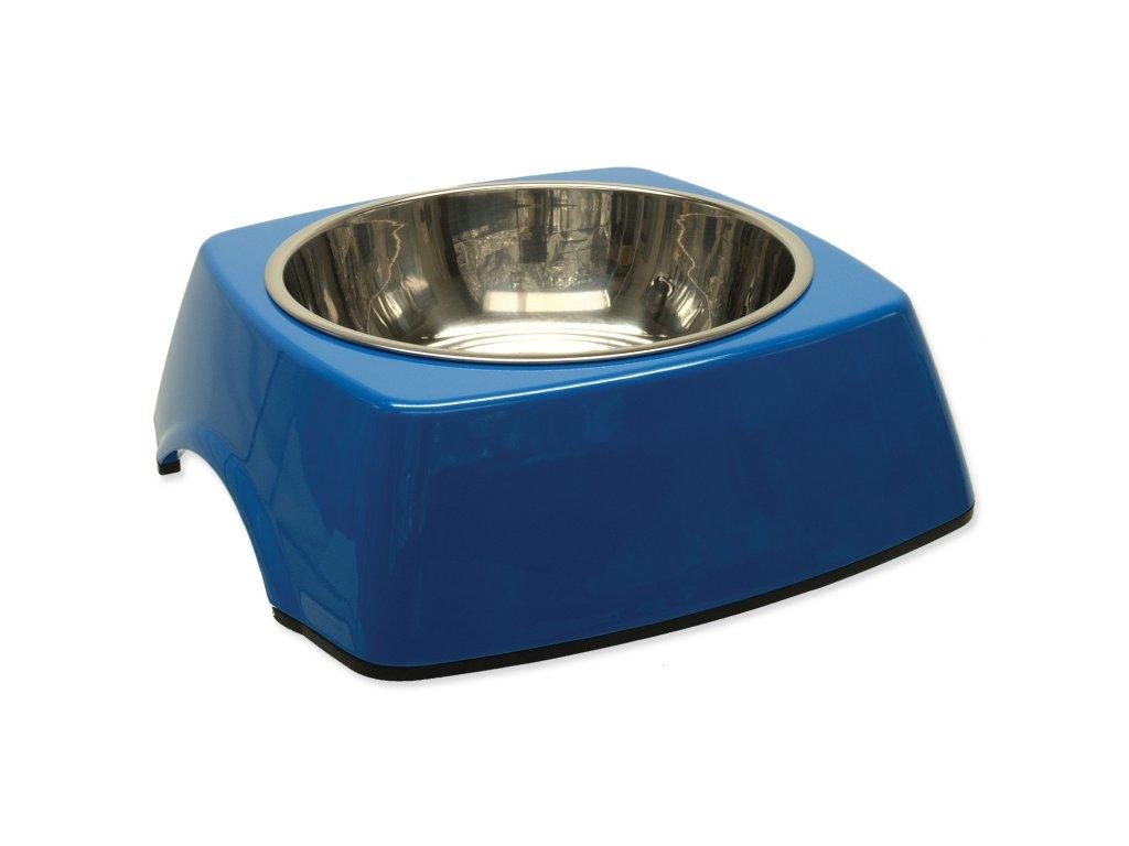 Miska DOG FANTASY nerezová čtvercová modrá 22,5 cm