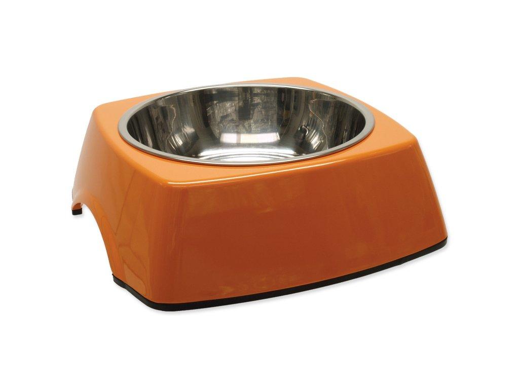Miska DOG FANTASY nerezová čtvercová oranžová 22,5 cm