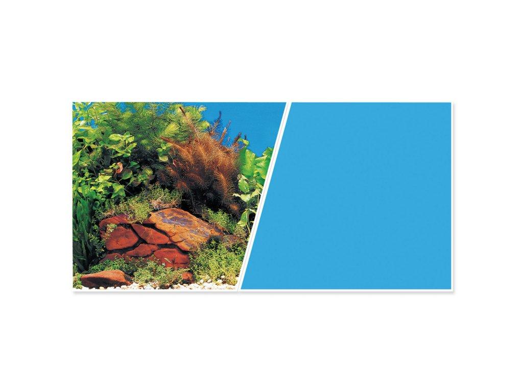 Pozadí MARINA tapeta oboustranné rostliny / modré 760 x 45 cm