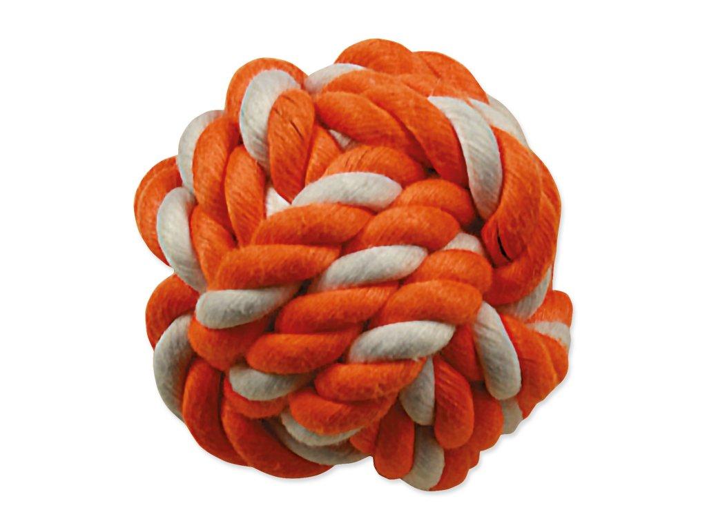 Hračka DOG FANTASY míč bavlněný oranžovo-bílý 12,5 cm